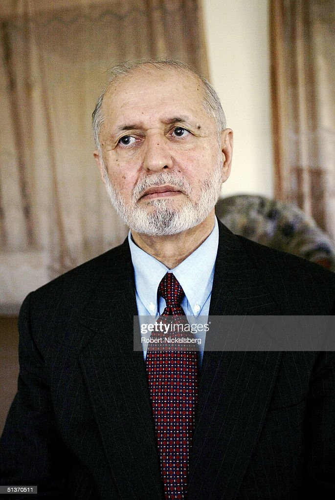 Afghan presidential candidate Dr Abdul Sattar Sirat 67 years sits in his Kabul residence September 5 2004 in Kabul Afghanistan Sirat is one of 18...