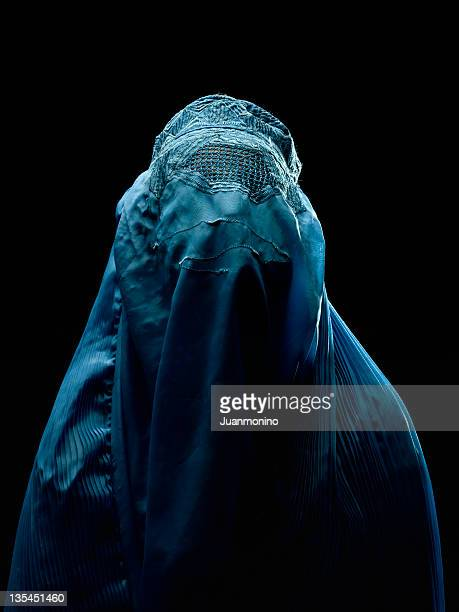 Afghan woman wearing her burkha