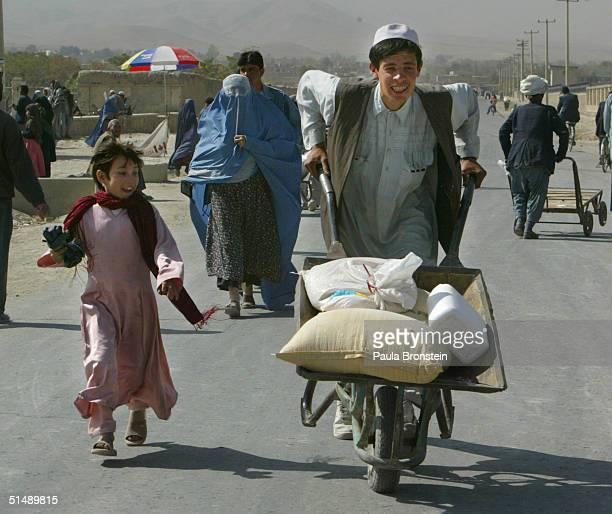 Afghan Women Get Food Aid