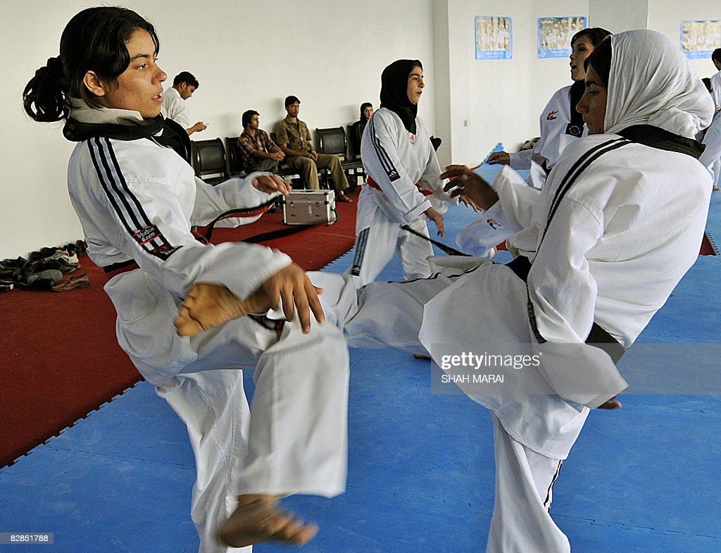 afghan women spar each other during pictures getty images afghan women spar each other during a taekwon do class in kabul on