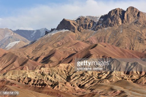 Afghanistan colourful mountains