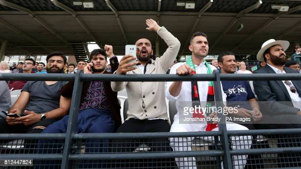 Afghanistan cricket fans during the one day match at Lord's London