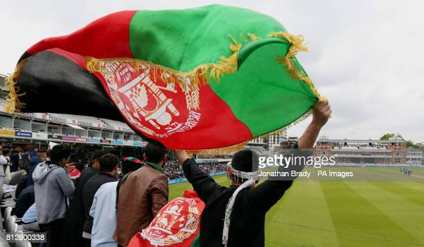 Afghanistan cricket fans watch from the stands during the one day match between MCC and Afghanistan at Lord's London