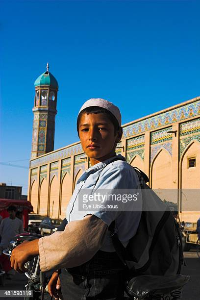 Afghanistan Herat Boy outside the Friday Mosque or MasjeteJamOriginally laid out on the site of an earlier 10th century mosque in the year 1200 by...