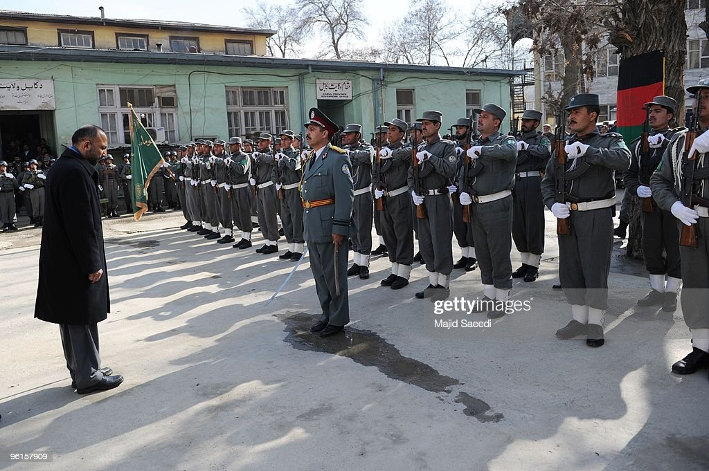 Ceremony For Policemen Who Fought Taliban Fighters In Kabul Attack