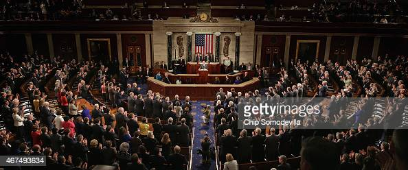 Afghanistan President Ashraf Ghani receives a standing ovation while addressing a joint meeting of the United States Congress in the House Chamber at...