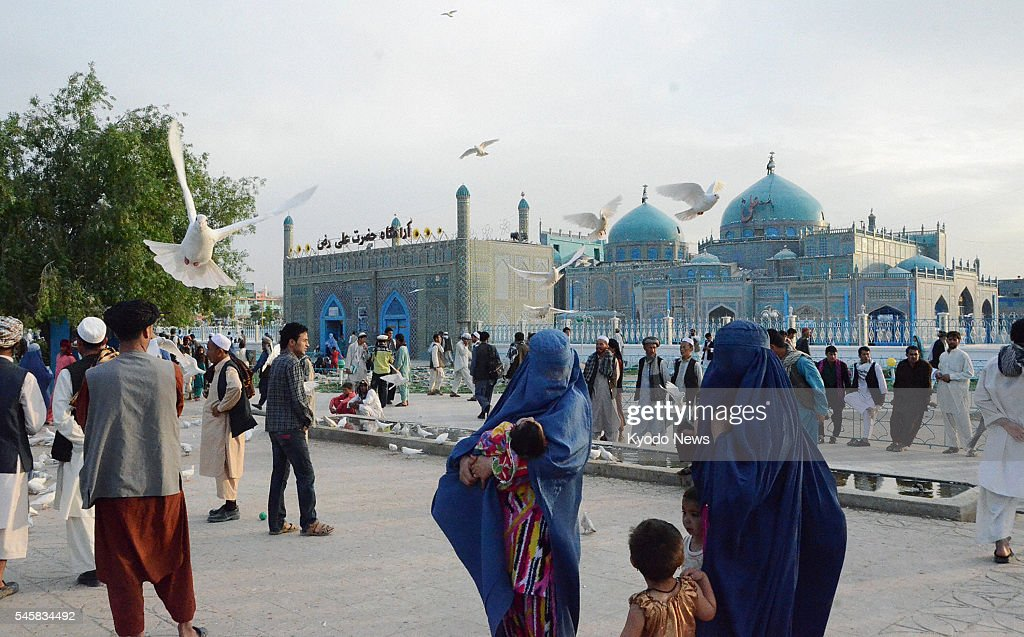 SHARIF Afghanistan The scene in a square near the Blue Mosque in MazariSharif in northern Afghanistan on May 8 2011