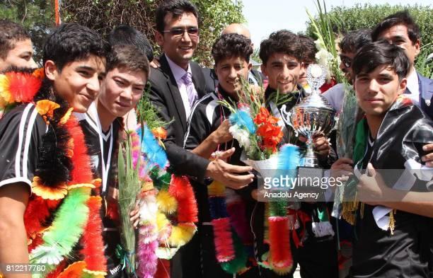 Afghanistan Under15 National Football Team arrive in Kabul Afghanistan on July 10 2017 Afghanistan Under15 National Football Team on Saturday won the...