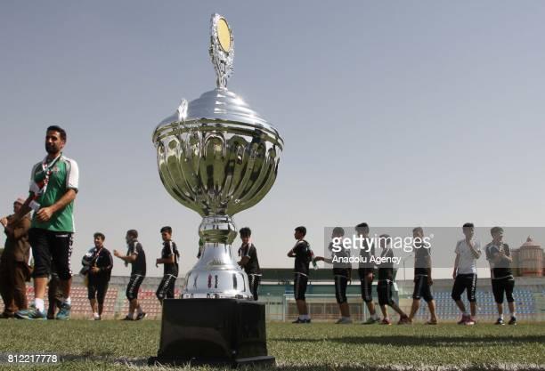 Afghanistan Under15 National Football Team celebrate their winning in Kabul Afghanistan on July 10 2017 Afghanistan Under15 National Football Team on...