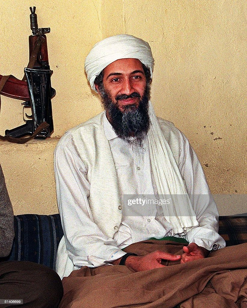 An undated recent file picture of Saudi dissident Ossama Bin Ladin in an undisclosed place inside Afghanistan The Taliban said today 08 August Saudi...