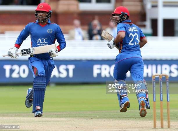 Afghanistan's Javed and Noor Ali run between the wickets during the one day match at Lord's London