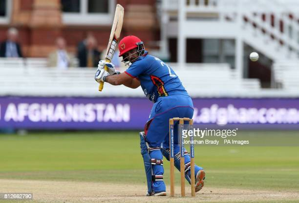Afghanistan's Javed bats during the one day match at Lord's London