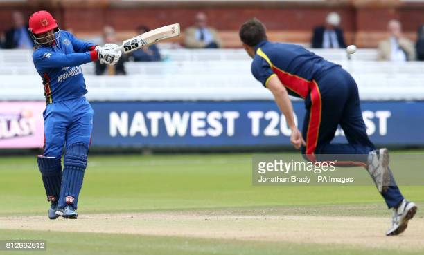 Afghanistan's Noor Ali bats during the one day match at Lord's London