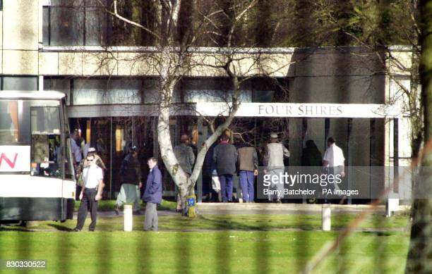 Afghans from the Stansted hijack incident go for lunch at the Fire Service College MoretoninMarsh in Gloucestershire