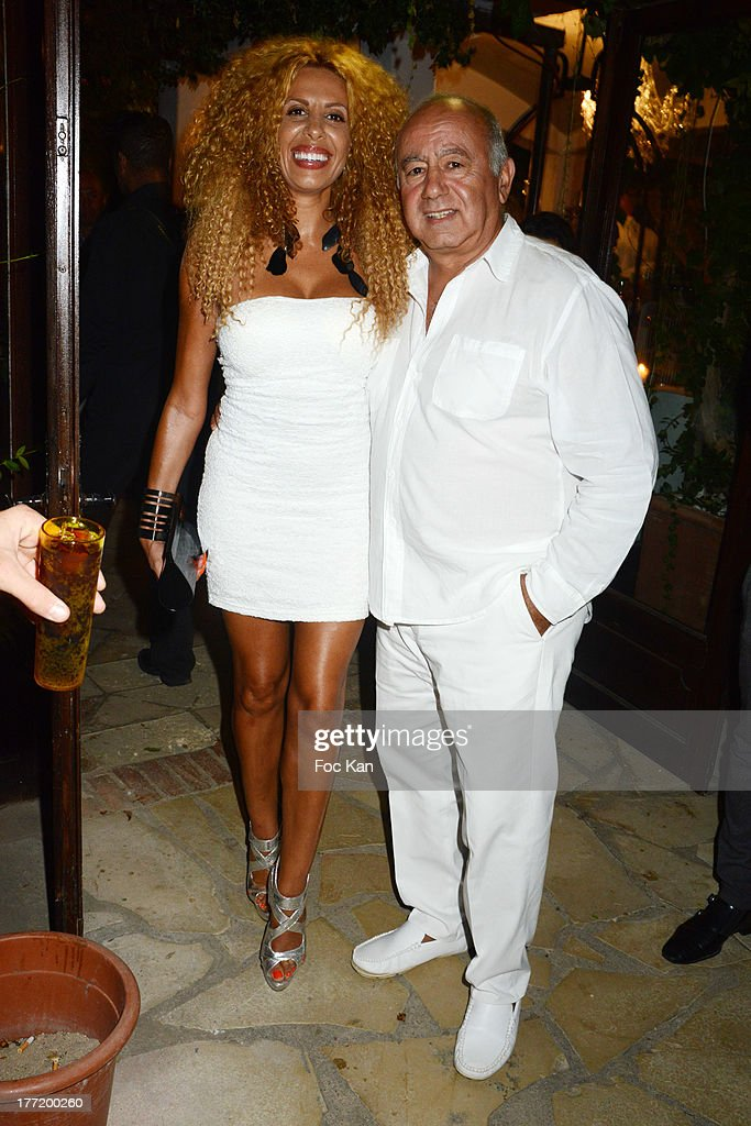Afida Turner and Alain Williams attend the Massimo Gargia's Birthday Dinner at Moulins de Ramatuelle on August 21, 2013 in Saint Tropez, France.