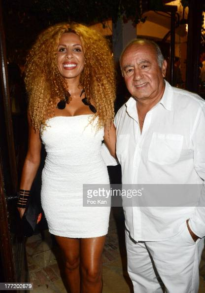 Afida Turner and Alain Williams attend the Massimo Gargia's Birthday Dinner at Moulins de Ramatuelle on August 21 2013 in Saint Tropez France