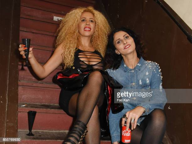 Afida Turner and Sylvie Ortega Munos attend the Henry Achkoyan Shop Opening on September 29 2017 in Paris France