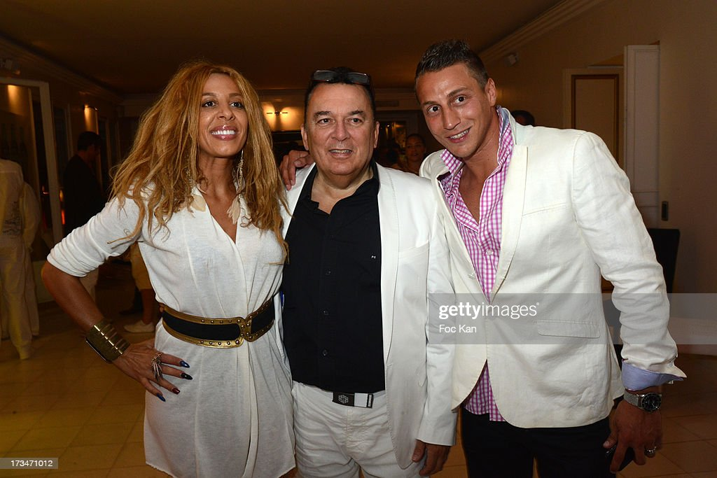 Afida Turner from 'Loft2' and 'Carre VIP', Pierre Guillermo and Melih Dundar from ' Les Anges Gardiens' on NRJ 12 attend the 14th July White Party at the Pierre Guillermo residence on July 14, 2013 in Paris, France.