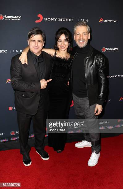 Afo Verde Camilla Cabello and Nir Seroussi attend Sony Music Latin Celebrates Its Artists At Their Annual Latin Grammy After Party on November 16...