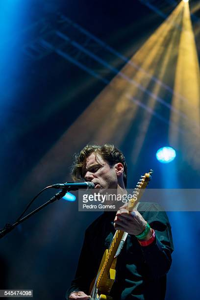 Afonso Rodrigues of Sean Riley The Slowriders performs on the Heineken stage at NOS Alive on July 7 2016 in Lisboa CDP Portugal