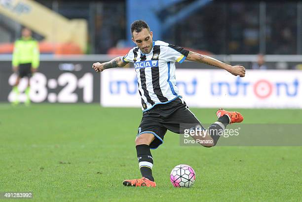 AFrancesco Lodi of Udinese Calcio in action during the Serie A match between Udinese Calcio and Genoa CFC at Stadio Friuli on October 4 2015 in Udine...