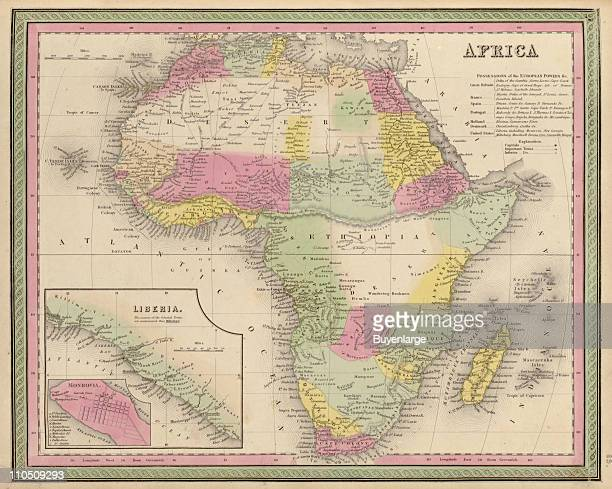 Africa 1849 Illustration by S Augustus Mitchell