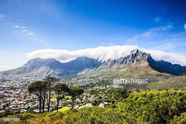 南アフリカ、ケープタウンの街並み、テーブルマウンテン