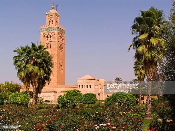 Africa Morocco Marrakech Koutoubia Mosque Africa Marocco Marrakech Moschea Koutoubia