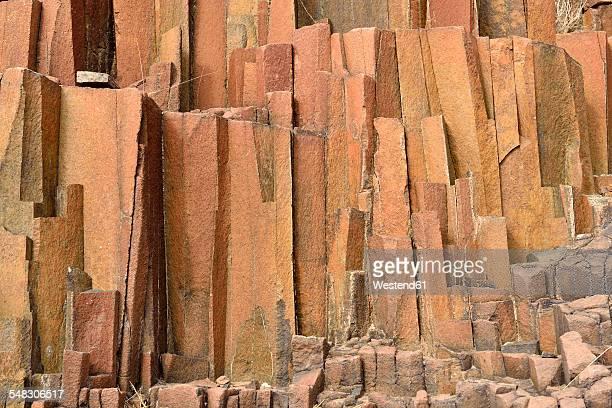 Africa, Namibia, Kunene Province, Damaraland, basalt rock formation at Twyfelfontein, organ pipes