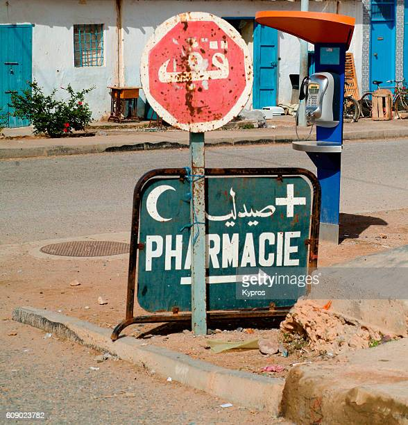 Africa, North Africa, Morocco, View Of Pharmacy Or Chemist Shop Sign (Year 2007)