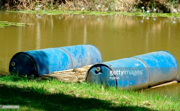 Africa, South Africa, View Of Raft Made From Oil Drums (Year 2009)