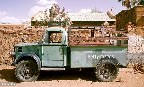 Africa, Sudan, North Sudan, Sahara Desert, View Of Old African Lorry Or Truck (2000)'n