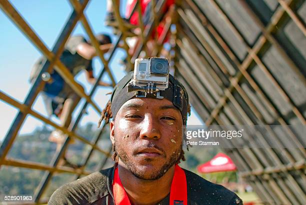 African American 5K competitor w/ Go Pro.