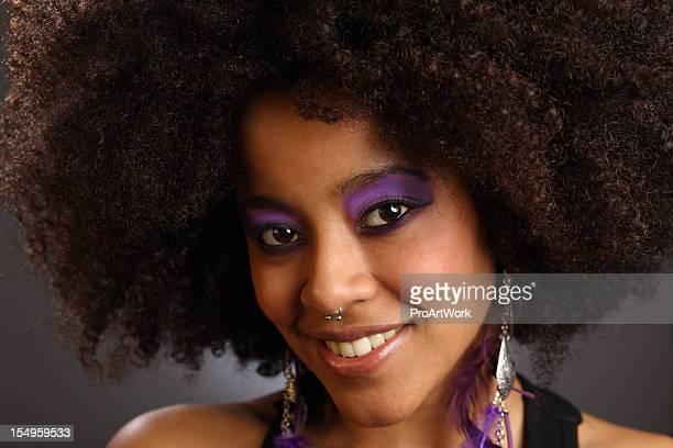 Femme afro-américaine hispanique &