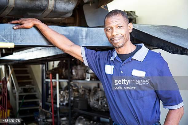African American Auto Mechanic