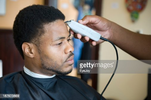 African American Barber Shop Shave and Haircut