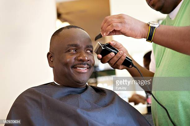 African American Barber Shop Smile