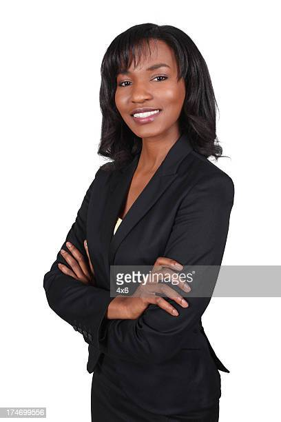 African American Business Woman Folding Arms
