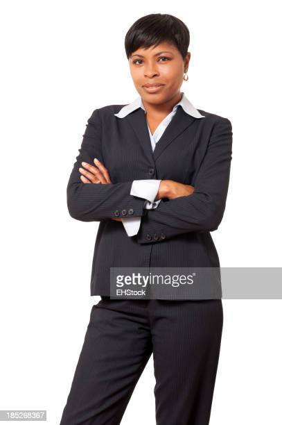 African American Businesswoman Isolated on White Background