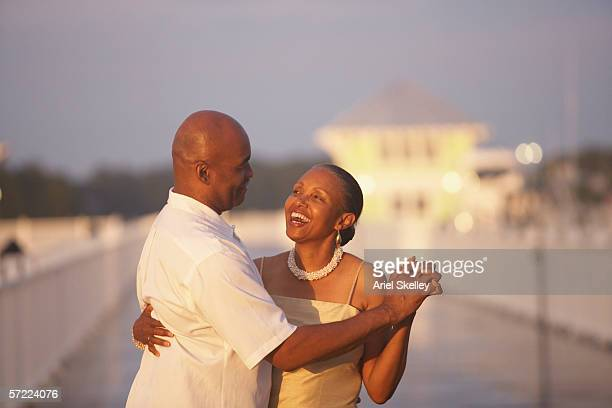 African American couple dancing