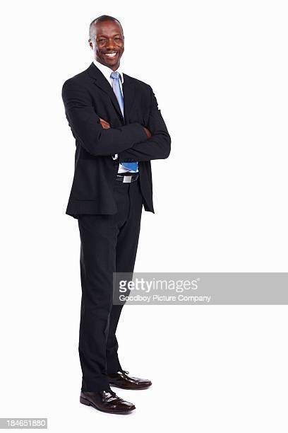 African American executive smiling