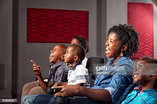 African American Family Watching Movie