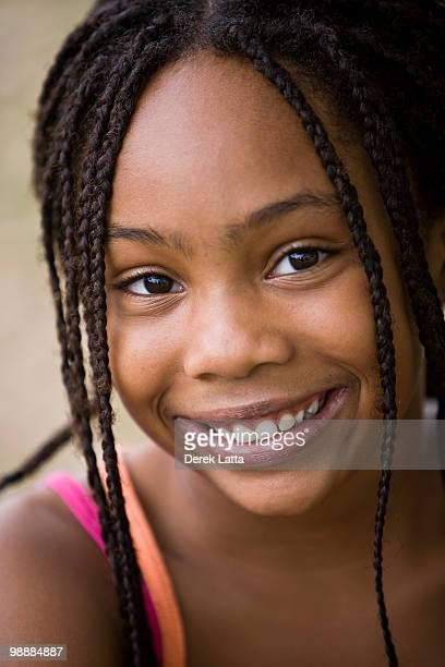 African American Girl with Braids