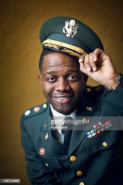 Lieutenant-Colonel afro-américain Portrait de l'armée