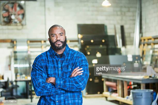 African American man in a workshop