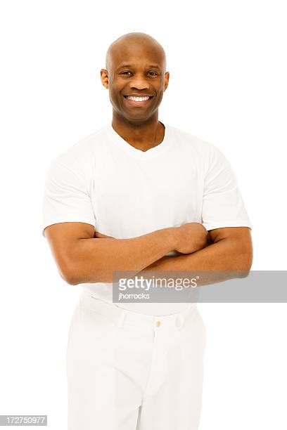 Afro-americano homem em branco