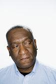 African American man looking sideways