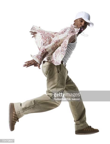 African American man running