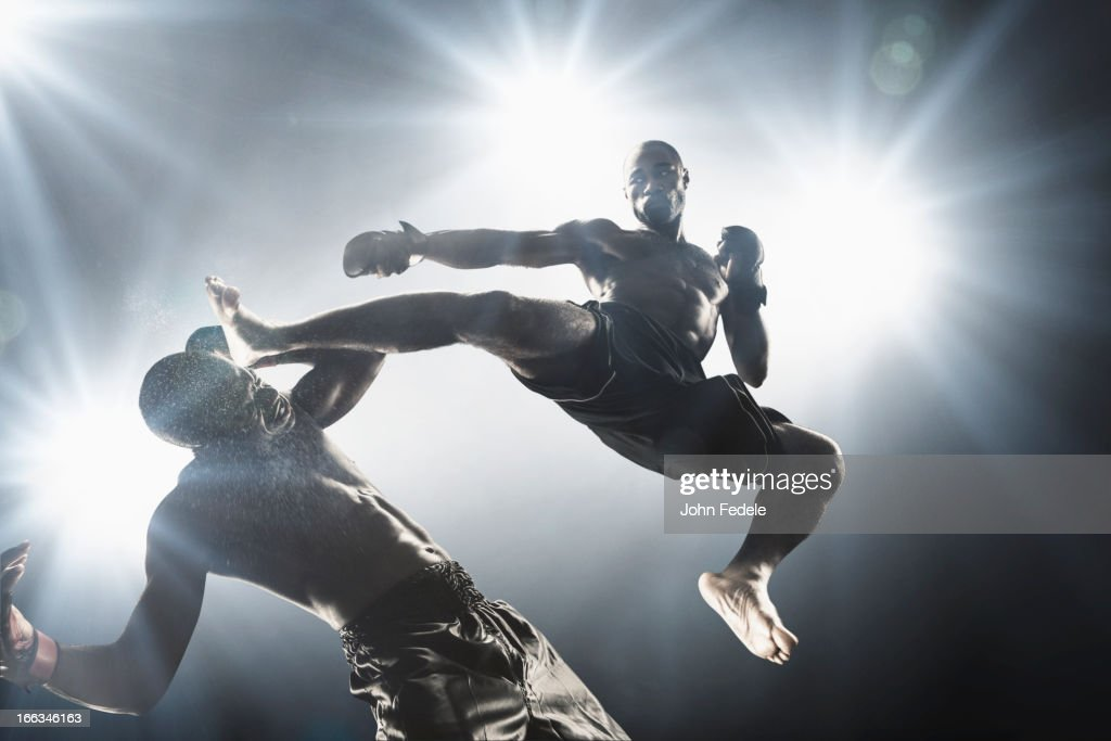 Two african american fighters practicing mma takedown ...  |African American Mma Fighters