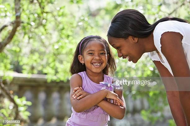 Afro-Américain mère et fille